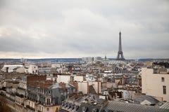 Ορίζοντας Παρίσι Γαλλία και ο πύργος του Άιφελ στοκ φωτογραφία