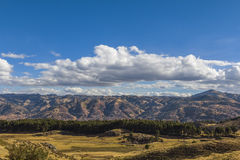 Ορίζοντας Περού πόλεων Cuzco Στοκ Φωτογραφίες