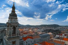 Ορίζοντας πόλεων της Βουδαπέστης, Ουγγαρία, Ευρώπη Στοκ εικόνες με δικαίωμα ελεύθερης χρήσης