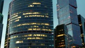 Ορίζοντας πόλεων της Μόσχας hyperlapse απόθεμα βίντεο