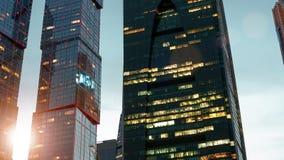 Ορίζοντας πόλεων της Μόσχας hyperlapse φιλμ μικρού μήκους