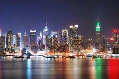 Ορίζοντας πόλεων της Νέας Υόρκης Στοκ Εικόνα