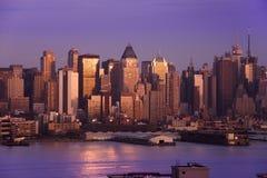 Ορίζοντας πόλεων της Νέας Υόρκης Στοκ εικόνες με δικαίωμα ελεύθερης χρήσης