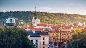 Ορίζοντας πόλεων της Πράγας, Πράγα, Δημοκρατία της Τσεχίας Στοκ Εικόνα