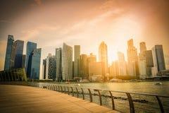 Ορίζοντας πόλεων της Σιγκαπούρης του εμπορικού κέντρου κεντρικός Στοκ φωτογραφία με δικαίωμα ελεύθερης χρήσης