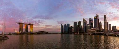 Ορίζοντας πόλεων της Σιγκαπούρης Στοκ φωτογραφία με δικαίωμα ελεύθερης χρήσης