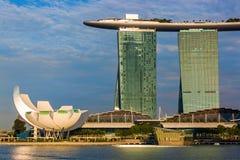 Ορίζοντας πόλεων της Σιγκαπούρης Στοκ Φωτογραφία