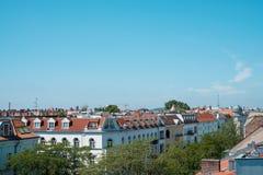 Ορίζοντας πόλεων του Βερολίνου - άποψη στεγών επάνω από το Βερολίνο - στοκ εικόνες με δικαίωμα ελεύθερης χρήσης