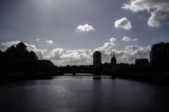 Ορίζοντας πόλεων του Δουβλίνου Στοκ εικόνες με δικαίωμα ελεύθερης χρήσης