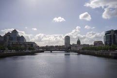 Ορίζοντας πόλεων του Δουβλίνου Στοκ εικόνα με δικαίωμα ελεύθερης χρήσης