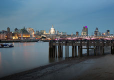 Ορίζοντας πόλεων του Λονδίνου Στοκ Φωτογραφίες