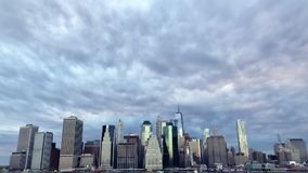 Ορίζοντας πόλεων του Λόουερ Μανχάταν Νέα Υόρκη απόθεμα βίντεο