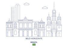 Ορίζοντας πόλεων του Μπέλο Οριζόντε, Βραζιλία Στοκ εικόνα με δικαίωμα ελεύθερης χρήσης