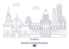Ορίζοντας πόλεων του Ντάρμπαν, Νότια Αφρική Στοκ φωτογραφία με δικαίωμα ελεύθερης χρήσης
