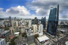 Ορίζοντας πόλεων του Παναμά - σύγχρονος ορίζοντας πόλεων - πανόραμα οικοδόμησης ουρανοξυστών - Στοκ Φωτογραφία