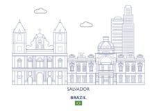 Ορίζοντας πόλεων του Σαλβαδόρ, Βραζιλία Στοκ φωτογραφία με δικαίωμα ελεύθερης χρήσης