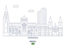 Ορίζοντας πόλεων του Φορταλέζα, Βραζιλία Στοκ Εικόνα