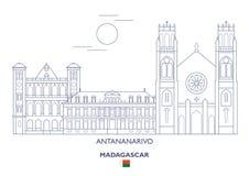 Ορίζοντας πόλεων Antananarivo, Μαδαγασκάρη Στοκ φωτογραφία με δικαίωμα ελεύθερης χρήσης