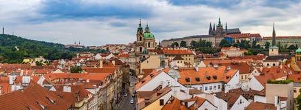 Ορίζοντας πόλεων πανοράματος της Πράγας Στοκ εικόνα με δικαίωμα ελεύθερης χρήσης