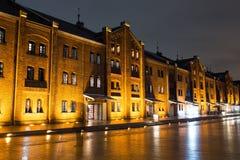 Ορίζοντας πόλεων στην Ιαπωνία τη νύχτα Στοκ Φωτογραφίες