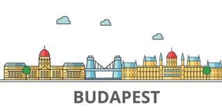 Ορίζοντας πόλεων της Βουδαπέστης ελεύθερη απεικόνιση δικαιώματος