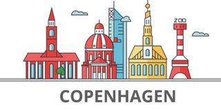 Ορίζοντας πόλεων της Κοπεγχάγης ελεύθερη απεικόνιση δικαιώματος