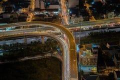 Ορίζοντας πόλεων της Μανίλα nightview, Μανίλα, Φιλιππίνες Στοκ φωτογραφία με δικαίωμα ελεύθερης χρήσης
