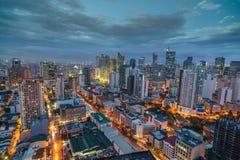 Ορίζοντας πόλεων της Μανίλα nightview, Μανίλα, Φιλιππίνες Στοκ Φωτογραφίες
