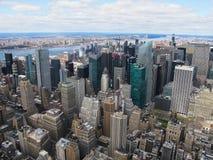 Ορίζοντας πόλεων της Νέας Υόρκης από την κορυφή του βράχου Στοκ εικόνα με δικαίωμα ελεύθερης χρήσης