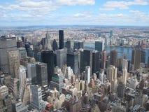 Ορίζοντας πόλεων της Νέας Υόρκης από την κορυφή του βράχου Στοκ φωτογραφία με δικαίωμα ελεύθερης χρήσης