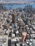 Ορίζοντας πόλεων της Νέας Υόρκης από την κορυφή του βράχου Στοκ φωτογραφίες με δικαίωμα ελεύθερης χρήσης