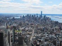 Ορίζοντας πόλεων της Νέας Υόρκης από την κορυφή του βράχου Στοκ Φωτογραφία