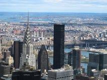 Ορίζοντας πόλεων της Νέας Υόρκης από την κορυφή του βράχου Στοκ Εικόνες