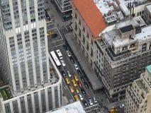 Ορίζοντας πόλεων της Νέας Υόρκης από την κορυφή του βράχου Στοκ εικόνες με δικαίωμα ελεύθερης χρήσης