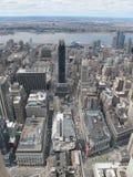 Ορίζοντας πόλεων της Νέας Υόρκης από την κορυφή του βράχου Στοκ Εικόνα