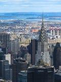 Ορίζοντας πόλεων της Νέας Υόρκης από την κορυφή του βράχου Στοκ Φωτογραφίες