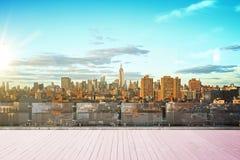 Ορίζοντας πόλεων της Νέας Υόρκης Στοκ εικόνα με δικαίωμα ελεύθερης χρήσης
