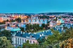 Ορίζοντας πόλεων της Πράγας Στοκ φωτογραφίες με δικαίωμα ελεύθερης χρήσης
