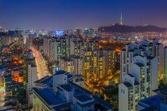 Ορίζοντας πόλεων της Σεούλ, Νότια Κορέα Στοκ εικόνα με δικαίωμα ελεύθερης χρήσης