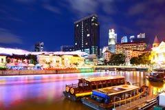 Ορίζοντας πόλεων της Σιγκαπούρης Στοκ εικόνα με δικαίωμα ελεύθερης χρήσης