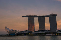 Ορίζοντας πόλεων της Σιγκαπούρης Στοκ Εικόνες