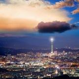 Ορίζοντας πόλεων της Ταϊπέι Στοκ εικόνα με δικαίωμα ελεύθερης χρήσης