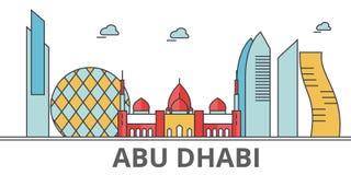 Ορίζοντας πόλεων του Αμπού Ντάμπι ελεύθερη απεικόνιση δικαιώματος
