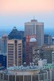 Ορίζοντας πόλεων του Μόντρεαλ στοκ φωτογραφία με δικαίωμα ελεύθερης χρήσης