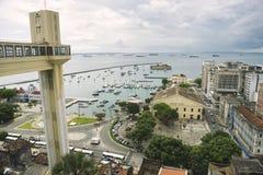 Ορίζοντας πόλεων του Σαλβαδόρ Βραζιλία από Pelourinho Στοκ Φωτογραφίες