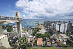Ορίζοντας πόλεων του Σαλβαδόρ Βραζιλία από Pelourinho Στοκ εικόνες με δικαίωμα ελεύθερης χρήσης
