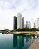 Ορίζοντας πόλεων του Σικάγου Στοκ φωτογραφία με δικαίωμα ελεύθερης χρήσης