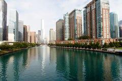 Ορίζοντας πόλεων του Σικάγου Στοκ Εικόνες