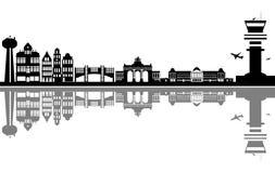 Ορίζοντας πόλεων των Βρυξελλών Στοκ Φωτογραφία