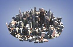 Ορίζοντας πόλεων Στοκ Εικόνα